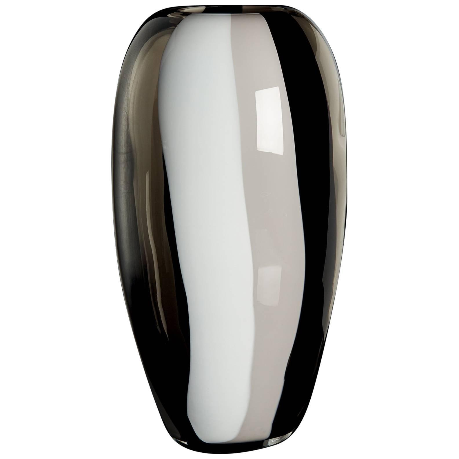 Ogiva Carlo Moretti Contemporary Mouth Blown Murano Glass Vase