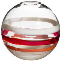 Vista Carlo Moretti Murano Contemporary Mouth Blown Glass Vase