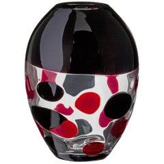 Xilos Carlo Moretti Murano Contemporary Mouth Blown Glass Vase