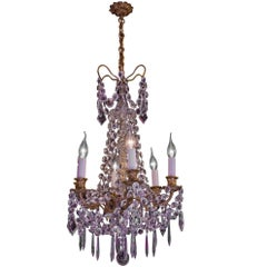 Cristalleries De Baccarat, Early-20th Century Ormolu and Crystal Chandelier