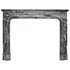 Antique Black Marble Fireplace from the 19th Century