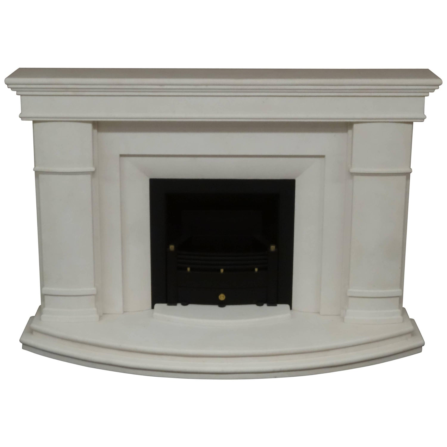 21st century reproduction moroccan mantel carved in limestone for