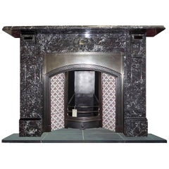 20th Century St. Anne's Black Marble Chimney Piece