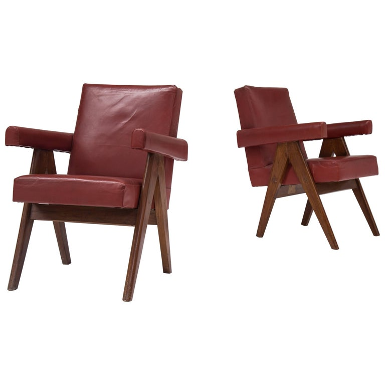 Pair of Pierre Jeanneret Chairs 1
