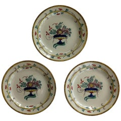Three 18th Century French Faience Earthenware Plates, circa 1780