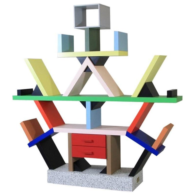 Ettore Sottsass, Carlton Bookcase For Sale