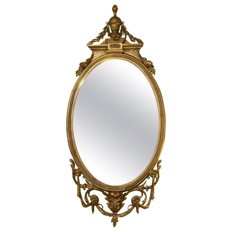 19th Century Carved Giltwood Mirror