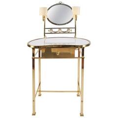 1950s Italian Brass Vanity or Dressing Table