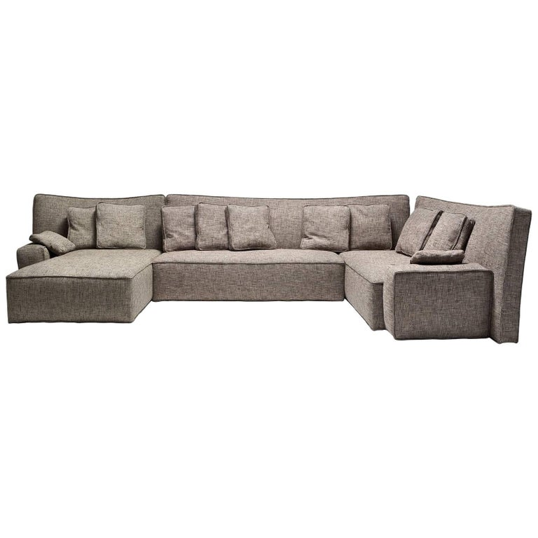 """Wow"" Composition P1 or P2 Sectional Sofa in Goose Feather by P. Starck, Driade"
