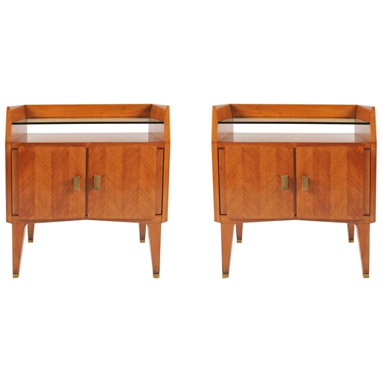 Pair of 1960s Italian Bedside Tables or Nightstands