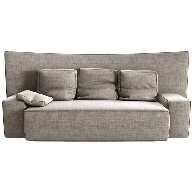 """Wow"" Three-Seat Sectional Sofa in Goose Feather by Philippe Starck for Driade"
