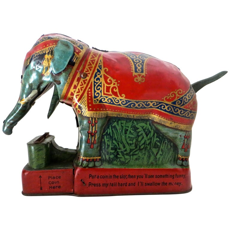 "Mechanical Bank ""Royal Trick Elephant"" 'with Verse,' circa 1912"