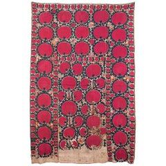 19th Century Small Format Suzani from Tashkent Uzbekistan