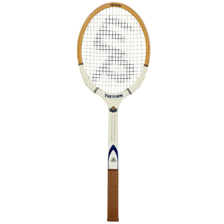 Rare Oversized 1970s Wooden Tretorn Tennis Racket For Sale