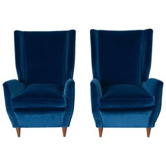 Pair of Gio Ponti Attributed Armchairs
