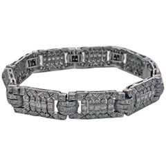 Art Deco 18-Karat Diamond Bracelet, circa 1930