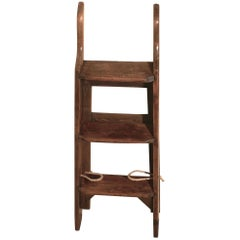 Victorian Pine Step Ladder or Kitchen Steps
