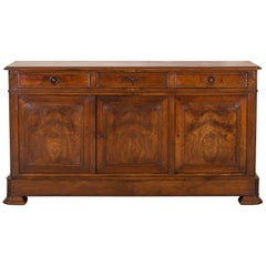 Antique French Louis Philippe Walnut Enfilade, circa 1870
