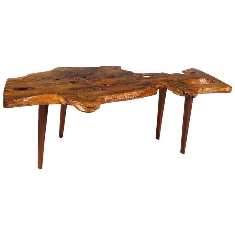 Tree Trunk Coffee Table By Reynolds Of Ludlow In The Style George Nakashima For