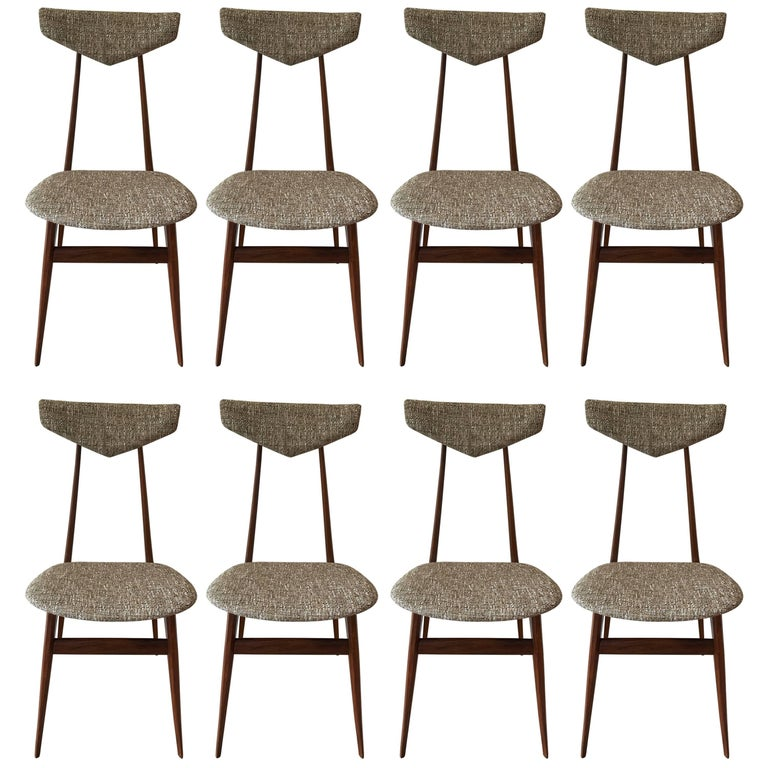 Set of Eight Dining Chairs Attributed to Ico Parisi