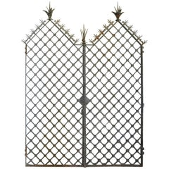 Single Wrought Iron Spanish Revival Gate at 1stdibs