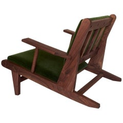 Hunting Chair, Low Upholstered Lounge Chair