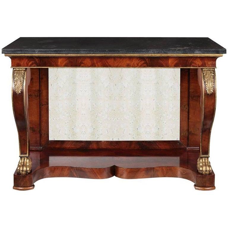 Amazing 19th Century Empire Console Table