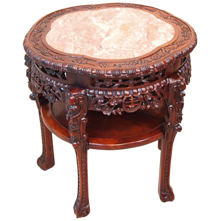 Antique 19th century oriental hardwood table for sale at for Antique chinese tables for sale