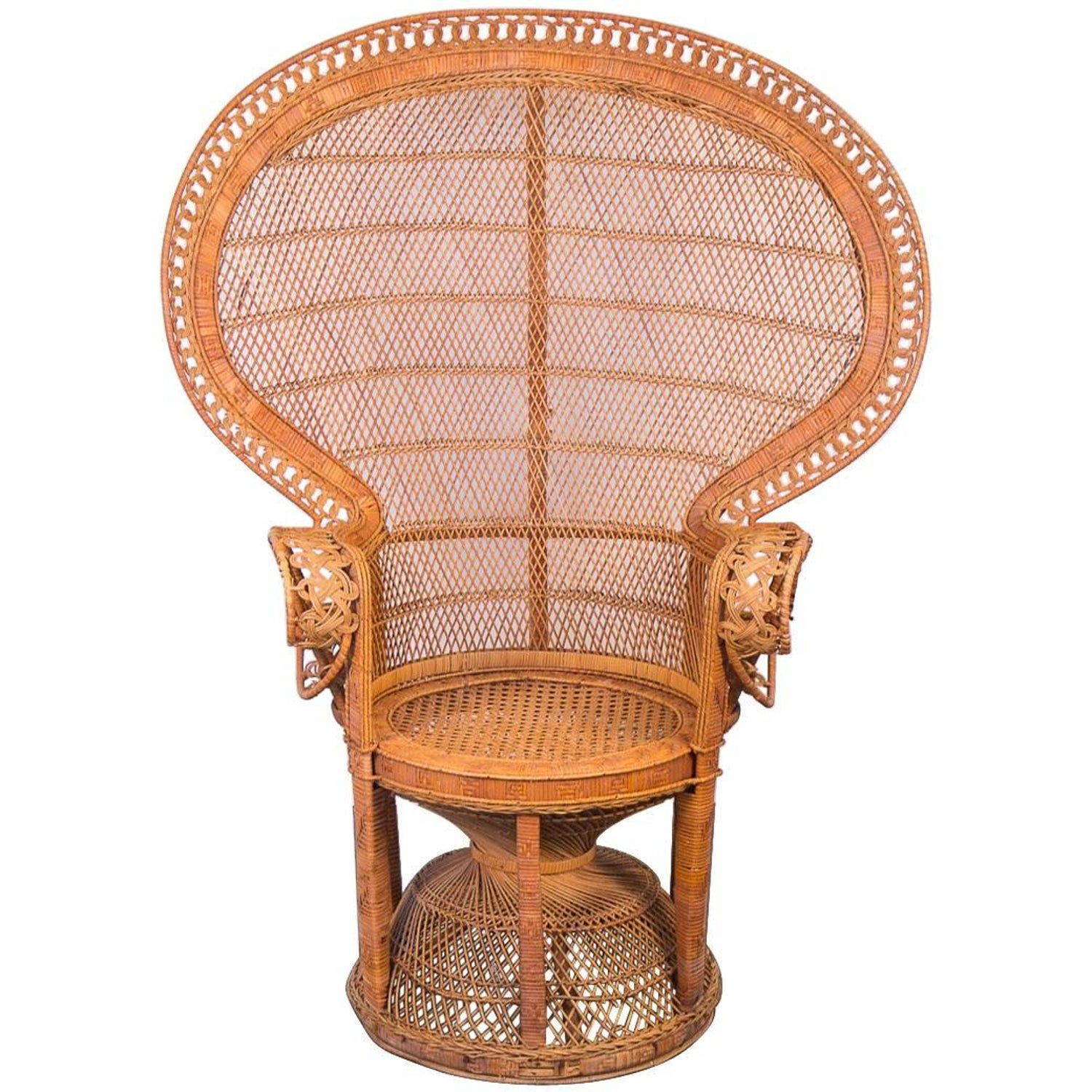 Iconic Emmanuelle Chair Midcentury Rattan Peacock Chair For Sale