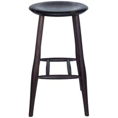 Swell Bar Stool, Turned Leg Stool