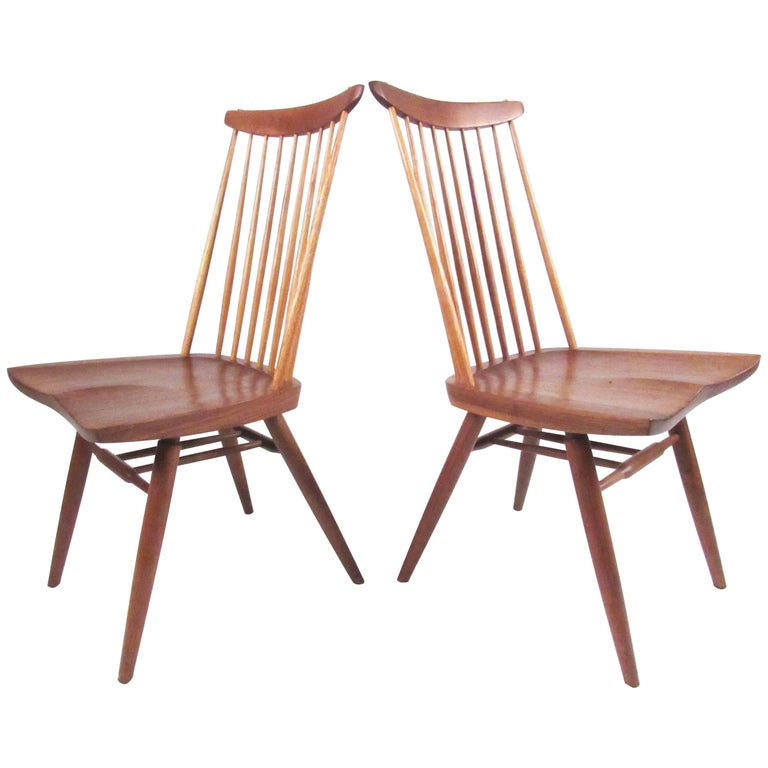 "Pair American Modern ""New Chairs"" by Mira Nakashima"