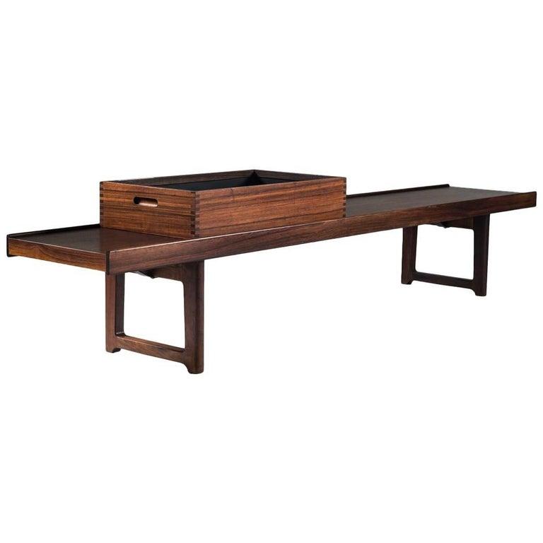 Krobo Bench or Side Table with Flower Box by Torbjørn Afdal for Mellemstrand