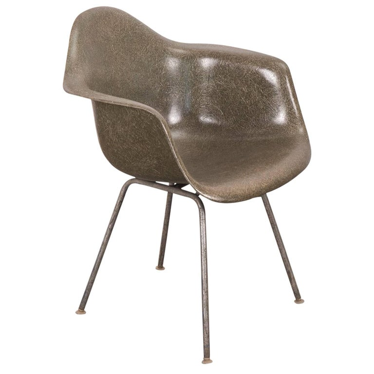 Eames Olive Green Armshell Chair