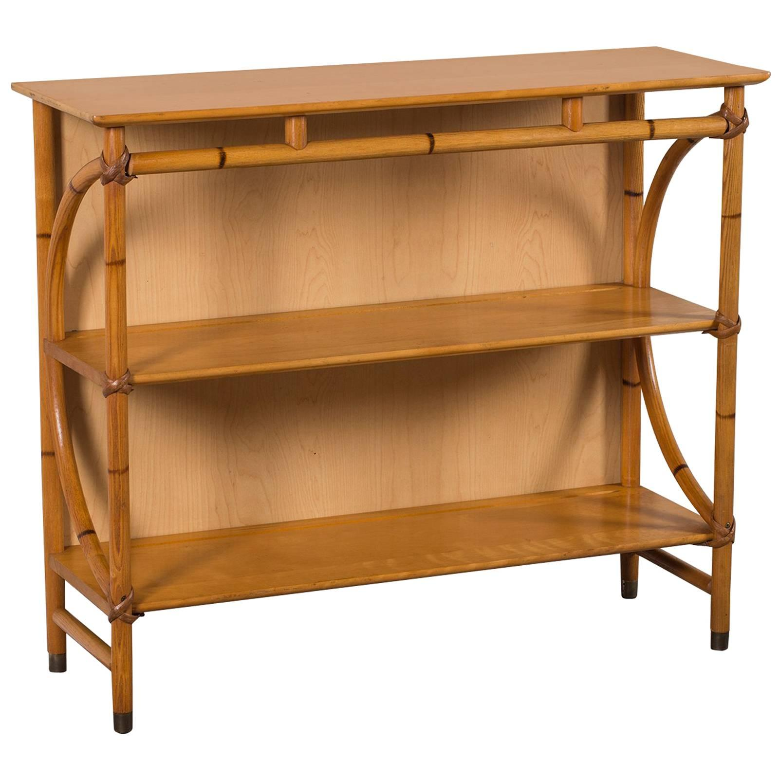 Mid Century Modern Heywood Wakefield Bamboo Étagère Display Shelves, USA  For Sale