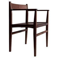 Silo Armchair by Fern, Wood Chair with Wood, Leather or Hickory Bark Seat