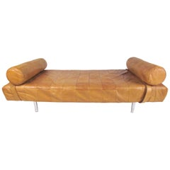 Mid-Century Modern Patchwork Leather Daybed by Stendig