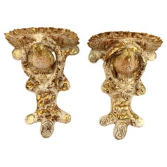 Pair of Lusterware Wall Sconce