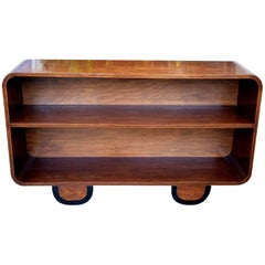 Art Deco Solid Wood Modernist Bookcase Shelves
