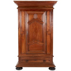 Large French Walnut Bonnetiere, circa 1800