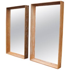 Adze Cut Deep Profile Limed Oak Cerused Oak Frames Mirrors