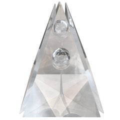 """Eye of the Pyramid"" Massive Four-Part Lucite Sculpture by Bijan Bahar"