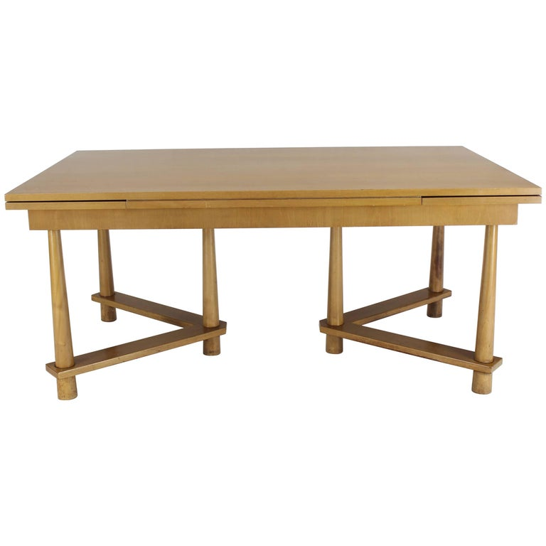 Robsjohn-Gibbings for Widdicomb Refectory Walnut Dining Table Tapered Legs