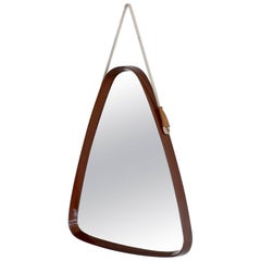 High Lacquered Bentwood Italian Mirror