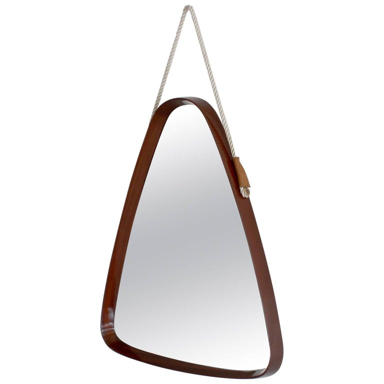 High Lacquered Bentwood Italian Mirror For Sale