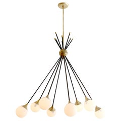 Eight-Glass Stilnovo Globe Chandelier