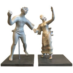 1930s Sculpture / Maquette Dancers, 1939 San Francisco Worlds Fair