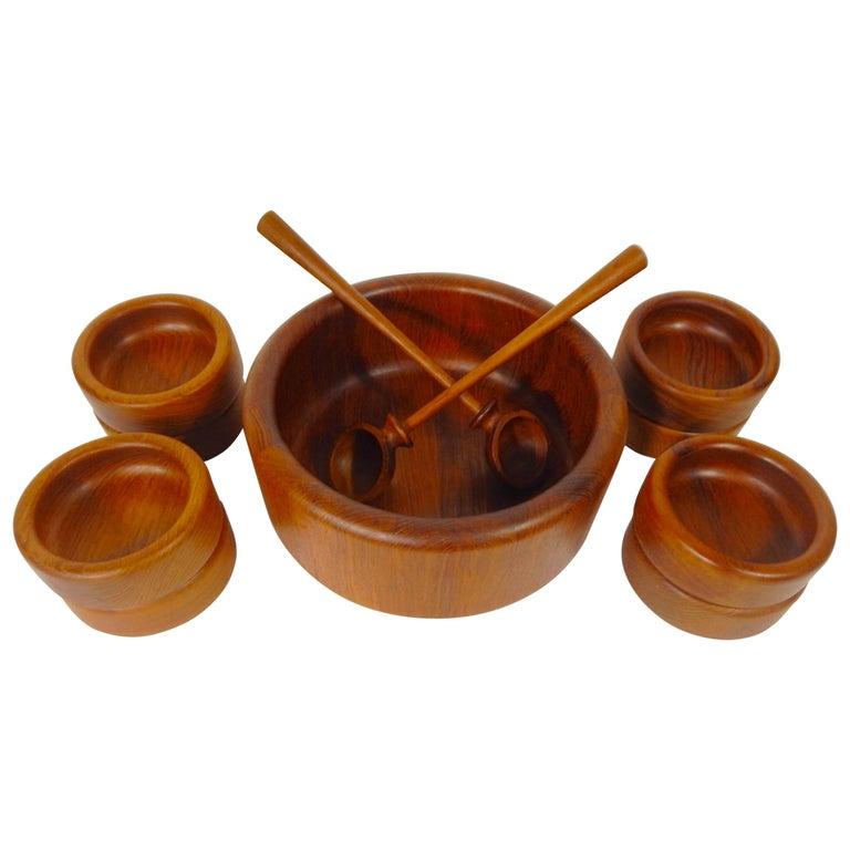 Teak Bowl Set, Denmark 11 Pieces