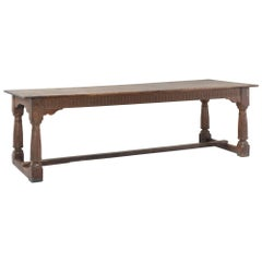 Oak Refectory Dining Table, circa 1690