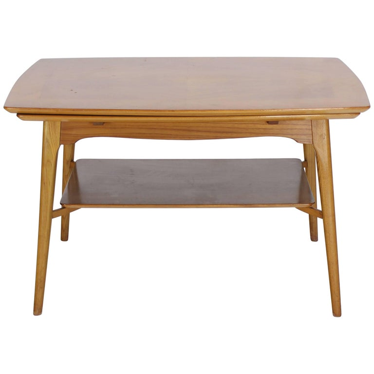 Swedish Blond Wood Expandable Refectory Coffee Side Table Childs Dining