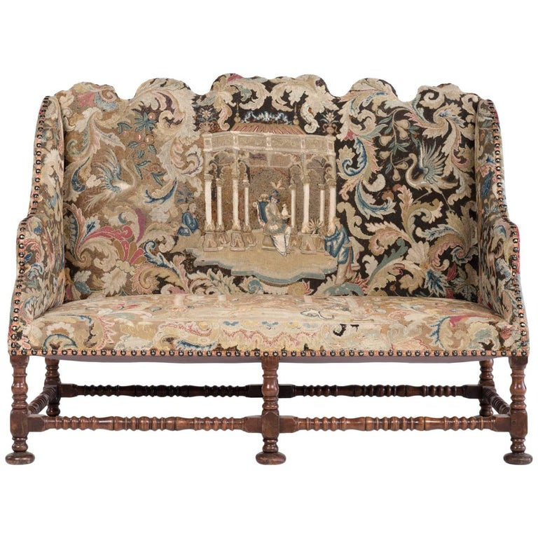 French Tapestry Sofa Circa 1880 For